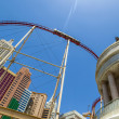Stock Photo: New York-New York resorts in Las Vegas with roller coaster.