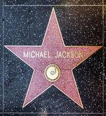 Michael Jackson's star on Hollywood Walk of Fame — Stock Photo