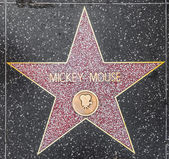 Mickey Mouse's star on Hollywood Walk of Fame — Stock Photo