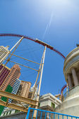 New York-New York resorts in Las Vegas with roller coaster. — Stock Photo