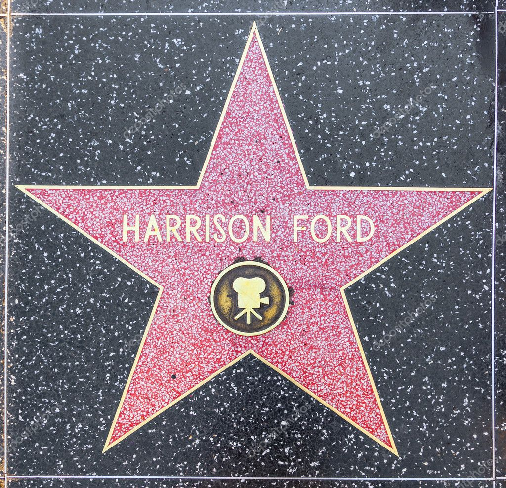 HOLLYWOOD - JUNE 26: Harrison Fords star on Hollywood Walk of Fame on June 26, 2012 in Hollywood, California. This star is located on Hollywood Blvd. and is one of 2400 celebrity stars.  Stock Photo #11530945