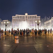 Stock Photo: Famous Bellagio Hotel with water games in Las Vegas