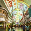 Fremont Street in Las Vegas, Nevada by night — Stock Photo #11545371