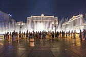 Famous Bellagio Hotel with water games in Las Vegas — Stock Photo
