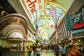 Fremont Street in Las Vegas, Nevada by night — Stockfoto
