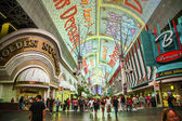 Fremont Street in Las Vegas, Nevada by night — Zdjęcie stockowe