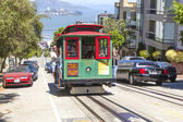 Famous Cable Car Bus near Fisherman's Wharf — Stock Photo