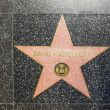 David Hasselhoffs star on Hollywood Walk of Fame — Stock Photo