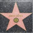 david bowies star on hollywood walk of fame — Stock Photo