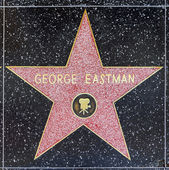 George Eastman's star on Hollywood Walk of Fame — Stock Photo