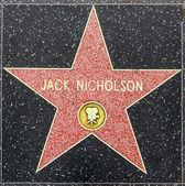 Jack Nicholson's star on Hollywood Walk of Fame — Stock Photo
