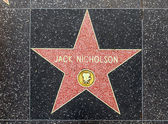 Jack Nicholson's star on Hollywood Walk of Fame — Stock Photo