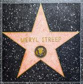 Meryl Streeps star on Hollywood Walk of Fame — Stock Photo