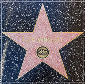 Liza Minelli's star on Hollywood Walk of Fame — Stock Photo