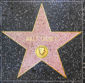Walt Disneys star on Hollywood Walk of Fame — Stock Photo