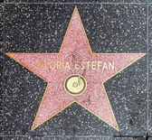 Gloria Estefans star on Hollywood Walk of Fame — Stock Photo