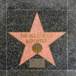 The Hollywood reporter's star on Hollywood Walk of Fame - Stock Photo