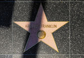 Aretha Franklin's star on Hollywood Walk of Fame — Stock Photo