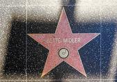 Bette Midler's star on Hollywood Walk of Fame — Stock Photo