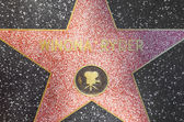 Winona Ryders star on Hollywood Walk of Fame — Stock Photo