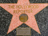 The Hollywood reporter's star on Hollywood Walk of Fame — Stock Photo