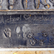 Royalty-Free Stock Photo: Handprints in Hollywood Boulevard in the concrete of Chinese The