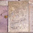 Handprints in Hollywood Boulevard in the concrete of Chinese The — Stock Photo