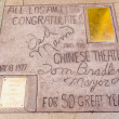 Handprints in Hollywood Boulevard in the concrete of Chinese The - Stock Photo