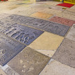 Handprints in Hollywood Boulevard in the concrete of Chinese The — Stock Photo #11648199