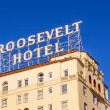 Facade of famous historic Roosevelt Hotel - Stock Photo