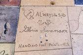 El izleri çince beton hollywood bulvarı'ndaki — Stok fotoğraf