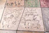 Bill powell et myrna loys empreintes sur hollywood boulevard — Photo