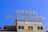 Facade of famous historic Roosevelt Hotel — Stock Photo