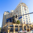 Orange blvd gatan logga in hollywood roosevelt Hotel i bac — Stockfoto