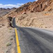 Winding road Artists drive in the Death Valley — Stock Photo #11654075