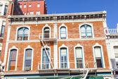 фасад исторических домов в квартале газовых фонарей сан-диего — Стоковое фото