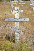 Old crosses at the historic orthodox cemetery of Fort Ross — Stock Photo