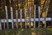 Historic fence at Fort Ross State Historic Park — Stock Photo