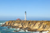 Famous Point Arena Lighthouse in California — Stock Photo