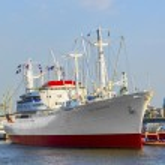 Historic freighter San Diego in Hamburg — Stock Photo #11895723