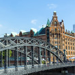 Brooks Bridge at the speicherstadt in hamburg — Stock Photo