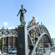 Statue of Europa at the  Brooks Bridge of Hamburg — Stock Photo