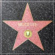 Bruce Lees star on Hollywood Walk of Fame — Stock Photo