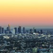 View to downtown Los Angeles in Sunset — Stock Photo