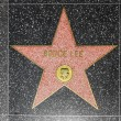 Bruce Lees star on Hollywood Walk of Fame - Zdjęcie stockowe