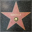 Godzillas star on Hollywood Walk of Fame — Stock Photo #11920456