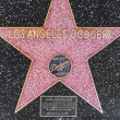 Los Angeles Dodgers star on Hollywood Walk of Fame — Stock Photo