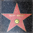 Ricky Martins star on Hollywood Walk of Fame — Stock Photo