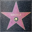 Godzillas star on Hollywood Walk of Fame — Stock Photo #11922202