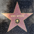 Mike Myers star on Hollywood Walk of Fame — Stock Photo